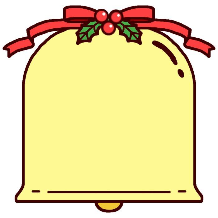クリスマスベル(カラー)/飾り枠 ... : クリスマスカード 素材 ダウンロード : カード