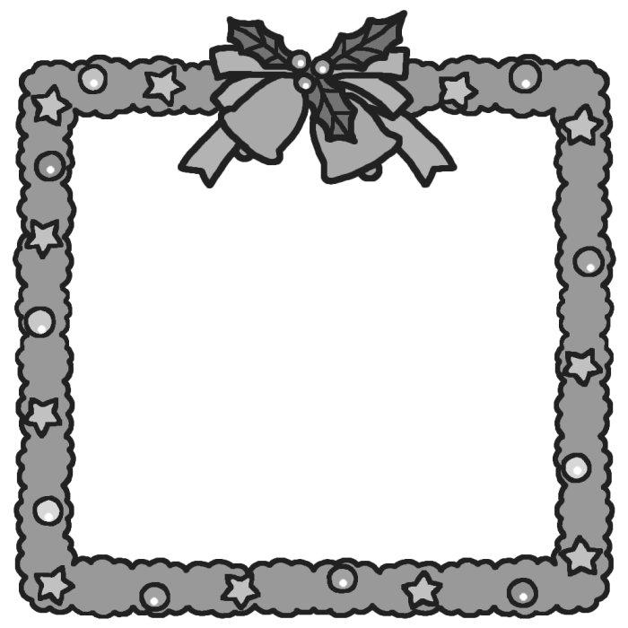 ... 枠2/クリスマスのイラスト素材