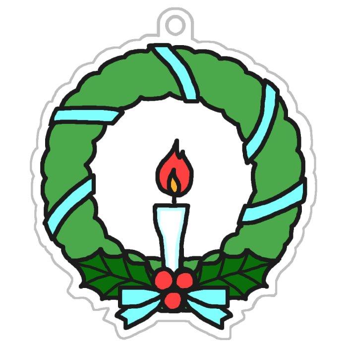 リース1-3/無料フリーの印刷用 ... : 無料イラスト クリスマスカード : イラスト
