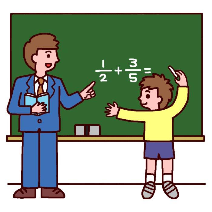 Child Illust : 時計の勉強 : すべての講義