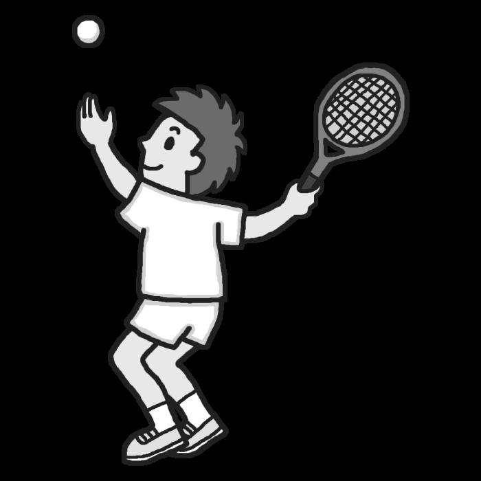 軟式 テニス イラスト