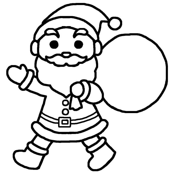 イラスト お正月イラスト塗り絵 : )/クリスマスの無料イラスト ...