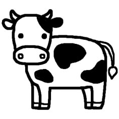 白黒)/陸の動物の無料イラスト ... : 動物 イラスト 白黒 : イラスト