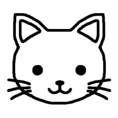 猫 ネコ1 白黒 陸の動物の無料イラスト ミニカット クリップアート素材