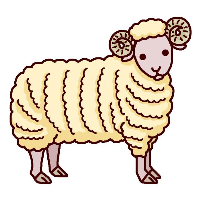 大きな動物/無料イラスト ... : 羊 絵 : すべての講義