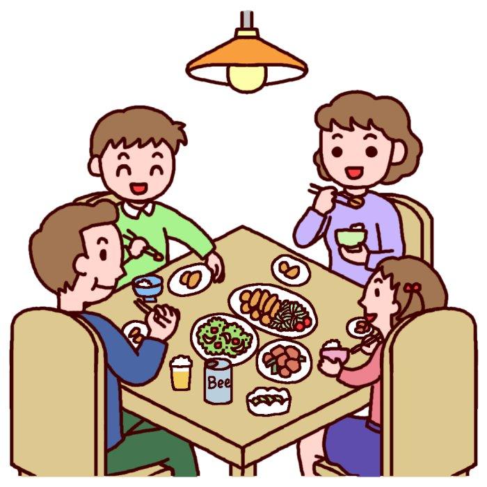 笑顔の家族団欒のイラスト素材 | イラスト無料・か …