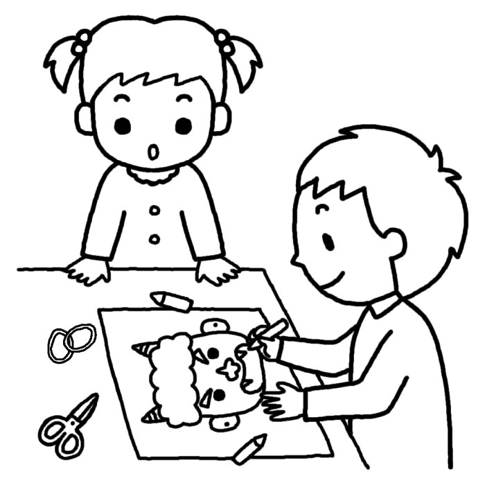 すべての講義 豆まき お面 : のお面作り(白黒)/節分・豆まき ...