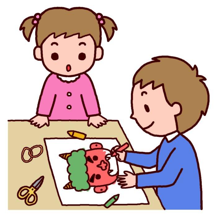鬼のお面作り(カラー)/節分 ... : 豆まき 鬼 お面 : すべての講義